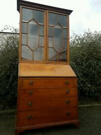 Edwardion Mahogany Bureau Bookcase Unit (delivery)