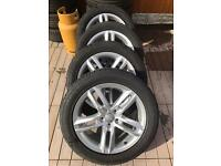 "Audi Q3 alloy wheels genuine 18"""