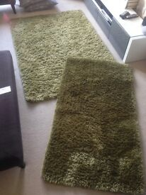 Two Green Rugs - great condition going cheap!