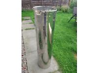 Section of insulated chimney flue 1000mm long for 200mm diameter pipe - NEW