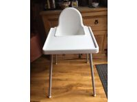 Plain wooden cot and mattress hygenic easy clean high chair