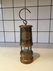 Antique Ferndale Brass Miners Lamp. VGC