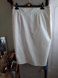 Riverisland size 16 leather white skirt