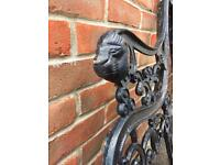 Lion head cast iron bench ends- HEAVY!