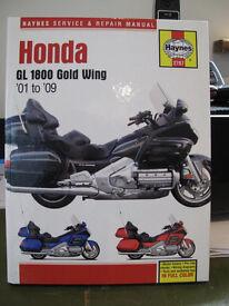 Honda Goldwing 1800 GL Haynes Service & Repaire Manual