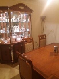 Dining table with matching cabinet