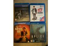 4 x blu-ray movies including three karate kid and social network