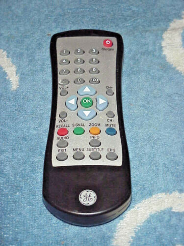GE GENERAL ELECTRIC GETV001 - TV Remote Control