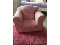 Pink Polka dot children's arm chair