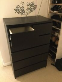 Black chest of draws for bedroom