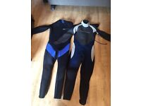 2 Male Wetsuits (5mm and 3mm)