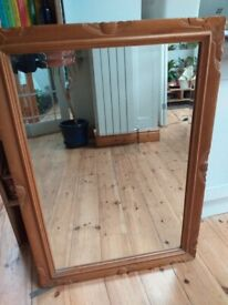 Large mirror- wooden frame