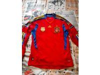 Spain longsleeve football shirt, men medium (M)