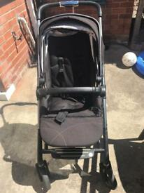 Silvercross Wayfarer carrycot and pushchair