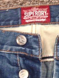 men superdry jeans size 32 vgc