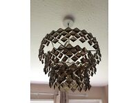 Bronze glass light shade