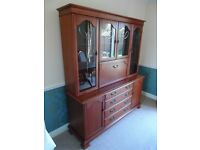 Cherry wood 5ft combination unit and matching music centre