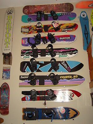 Black Snowboard Hanger Holder Display Ceiling Wall Rack Mount Accessories New
