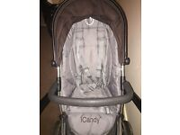 Icandy seat (grey and black)