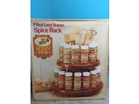 Brand new in box Lazy susan spice rack