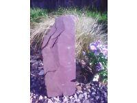 Slate monoliths, garden ornaments