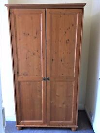 Hard wood wardrobe, great condition