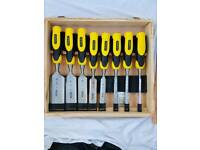 Stanley 8 piece chisel set new