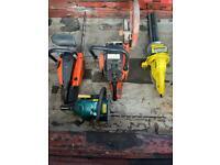 Job lot fixable chains saws & circular saw