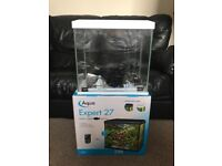Aqua Expert 27 Aquarium - White - with accessories