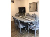 French Louis table & chairs