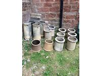 SELECTION OF 14 CHIMNEY POTS ALL IN EXCELLENT CONDITION.