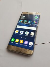 Samsung Galaxy S7 edge SM-G935 (Latest Model) - 32GB - Gold Platinum (O2) Smartphone NOUGAT 7.0
