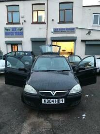Vauxhall corsa 1.2 petrol 5 doors hatchback 5 seater family car low milage 77k 2004 04 plate