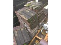 100x Dark Red Weathered Marley Ludlow Major Concrete Tiles