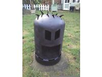Gas bottle wood log burner garden heater