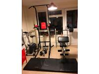 Weights bench exercise bike Tricep dip Home Gym Equipment