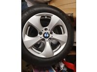 "BMW Alloy wheels 16"" Good Condition excellent tred"