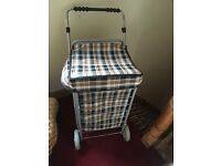 Vintage retro shopping trolley