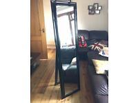 Black standing full length mirror
