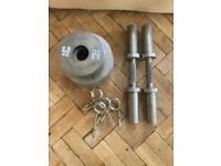 Adjustable dumbell weights, total 65kg