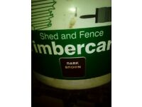 12 ltr dark brown fence paint
