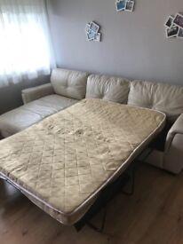 Leather sofa bed corner