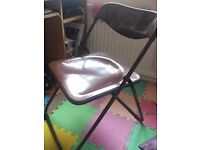 2 folding chairs with cushions collection only