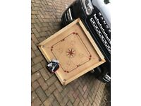 Garden Games Carrom Board Set 85 x 85cm Beautifully hand finished