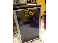 Glass front under counter beer fridge
