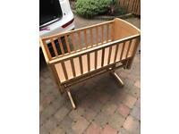 Mothercare rocking crib bed