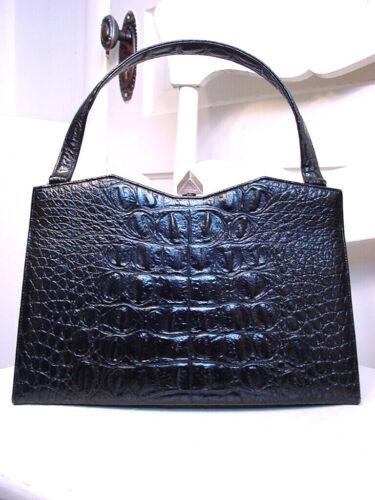 Lovely Vtg 50s/60s Caprice Crocodile/Alligator-Embossed Framed Handbag/Purse