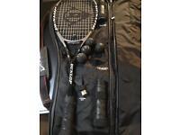 Dunlop muscle weave squash racquet
