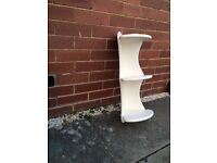 @@LOVELY VERY LIGHT CREAM 2FT PINE SHELVING UNIT@@