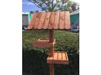 Large two tier bird table